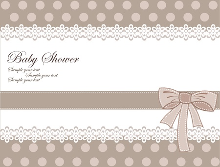 Illustration for Vector retro greeting card for baby shower - Royalty Free Image