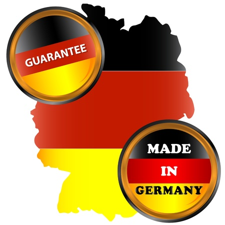Made in germany icon on a white background