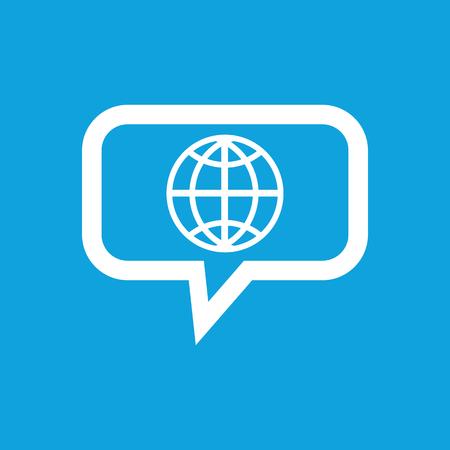 Globe message icon