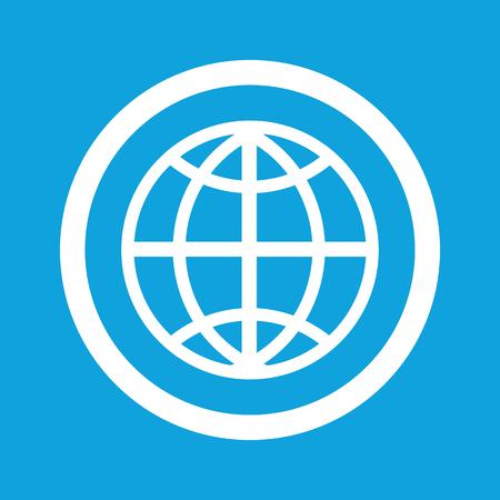 Globe sign icon