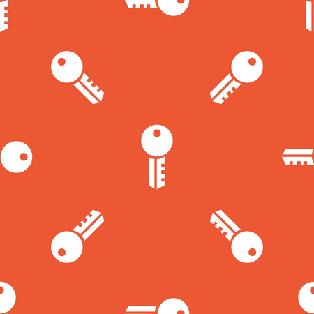 Image of key, repeated on orange background