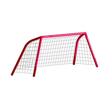 Illustration pour Soccer goal icon in cartoon style on a white background - image libre de droit