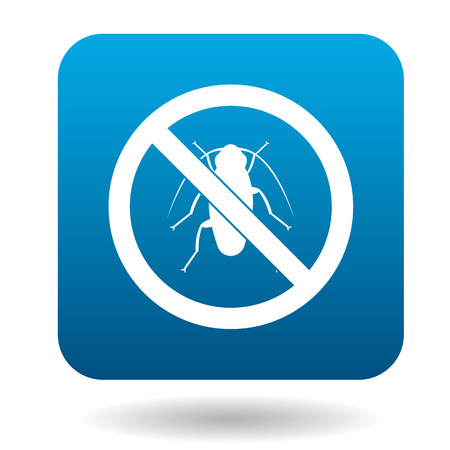 No cockroach sign icon in simple style on a white background