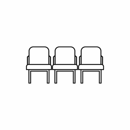 Illustration pour Row seats icon in outline style on a white background vector illustration - image libre de droit