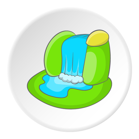 Waterfall icon. Cartoon illustration of waterfall vector icon for webのイラスト素材