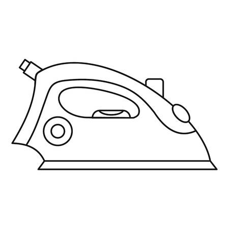 Iron icon. Outline illustration of iron vector icon for web