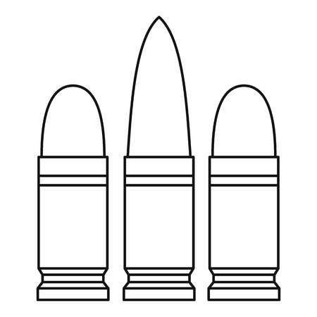 Cartridges icon. Outline illustration of cartridges vector icon for web
