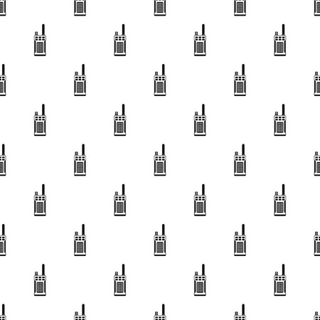 Portable handheld radio pattern. Simple illustration of portable handheld radio vector pattern for web