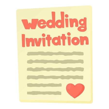 Invitation icon. Cartoon illustration of invitation vector icon for web