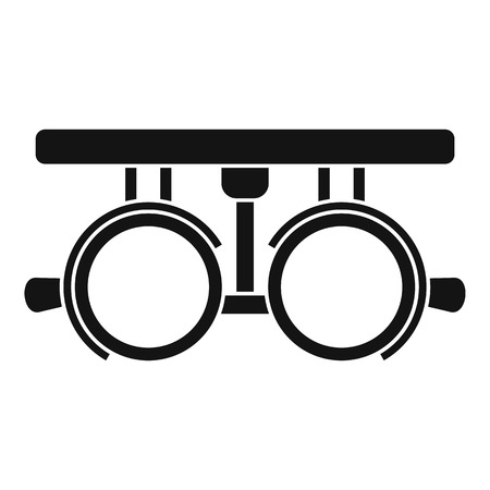 Trial frame for checking patient vision icon. Simple illustration of trial frame for checking patient vision vector icon for web