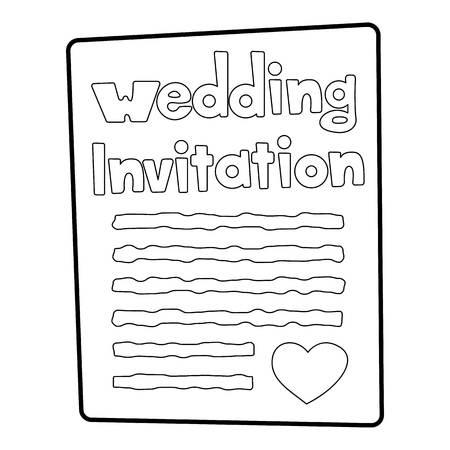 Invitation icon. Outline illustration of invitation vector icon for web