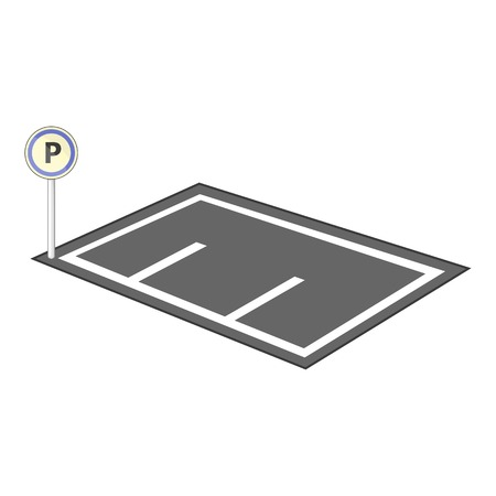 Parking icon. Cartoon illustration of parking vector icon for web