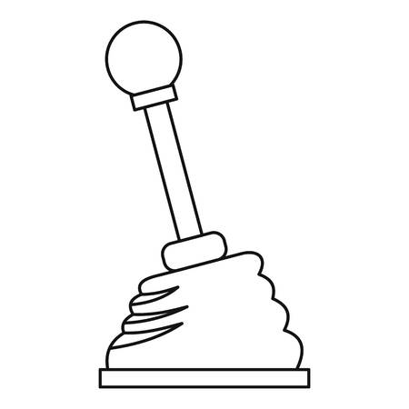 Car gear stick icon. Outline illustration of car gear stick vector icon for web