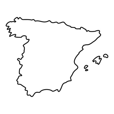 Map Of Spain Vector Free.Map Of Spain Icon Outline Illustration Of Map Of Spain Vector Icon