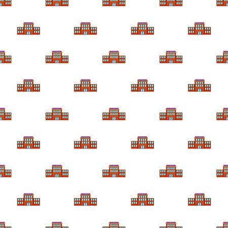 Railway station pattern. Cartoon illustration of railway station vector pattern for web