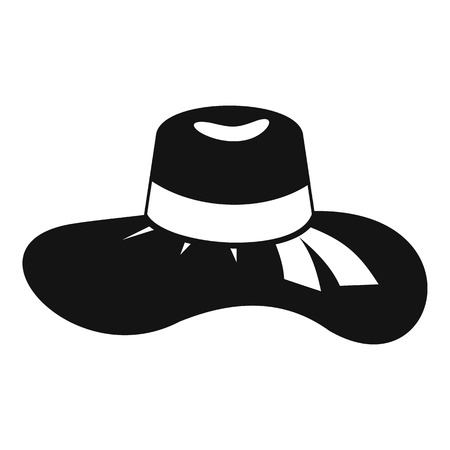 Illustration for Woman hat icon. Simple illustration of woman hat vector icon for web - Royalty Free Image