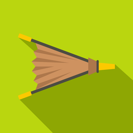 Fire bellows icon, flat style