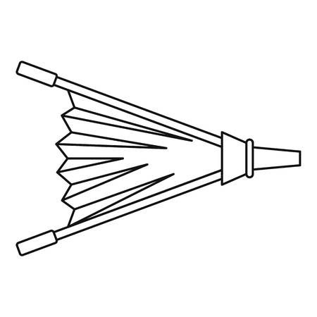 Fire bellows icon outline