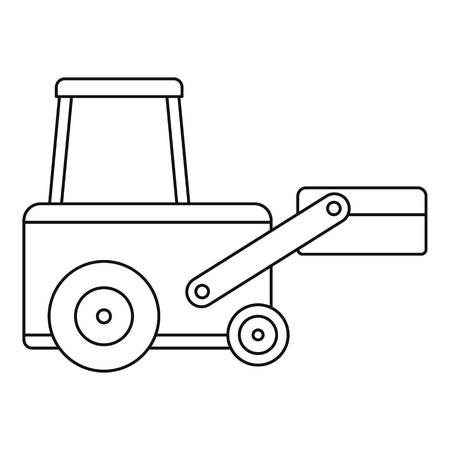 Truck to lift cargo icon in outline style isolated vector illustration.