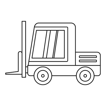 Stacker loader icon in outline style isolated vector illustration.