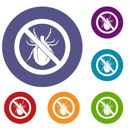 No bug sign icons set