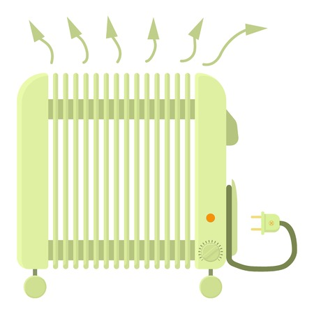 Illustration pour Heater icon, cartoon style - image libre de droit