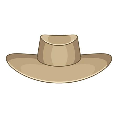 Illustration for Hat icon. Cartoon illustration of akubra vector icon for web design - Royalty Free Image