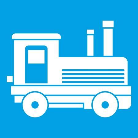 Locomotive icon white