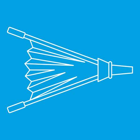Fire bellows icon outline.