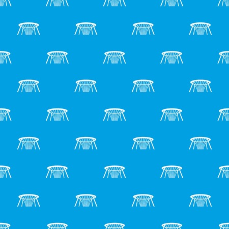 Fountain of Wealth pattern seamless blue vector illustration.