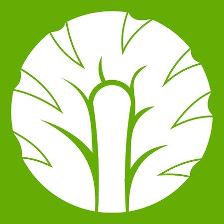 Fresh slice of broccoli icon green
