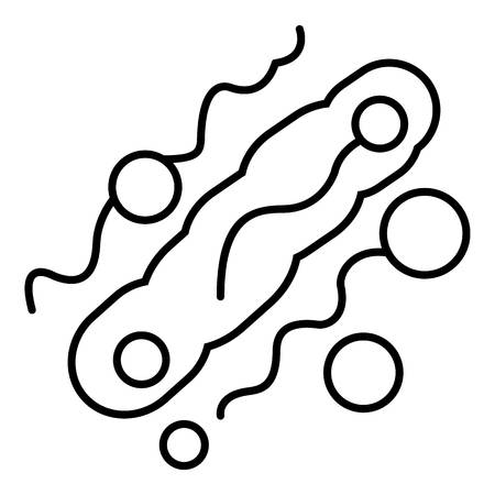 Corynebacterium icon. Outline illustration of corynebacterium vector icon for web design isolated on white background