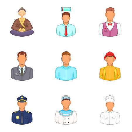 Embodiment icons set, cartoon style