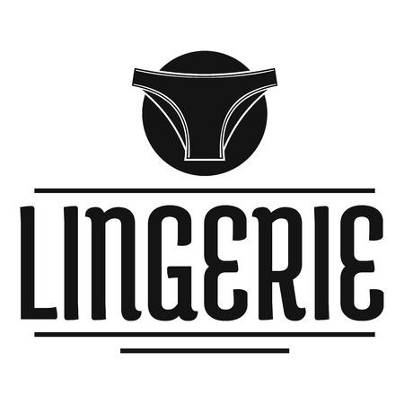 Lingerie design simple black style