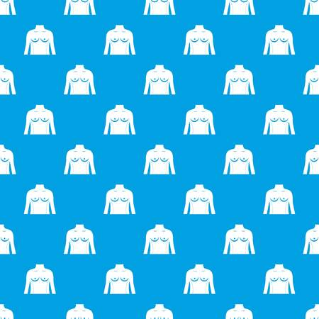 Plastic surgery of torso pattern seamless blue
