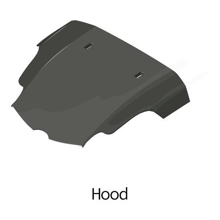 Illustration for Cowl car icon. Isometric illustration of cowl car vector icon for web - Royalty Free Image