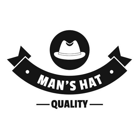 Quality hat logo, simple black style