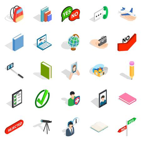 Casual conversation icons set. Isometric set of casual conversation vector icons for web isolated on white background
