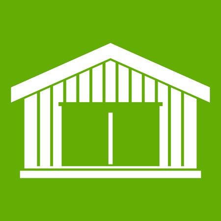 Garage icon in green color.