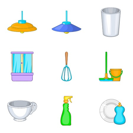Personal room icons set. Cartoon set of personal room vector icons for web isolated on white background