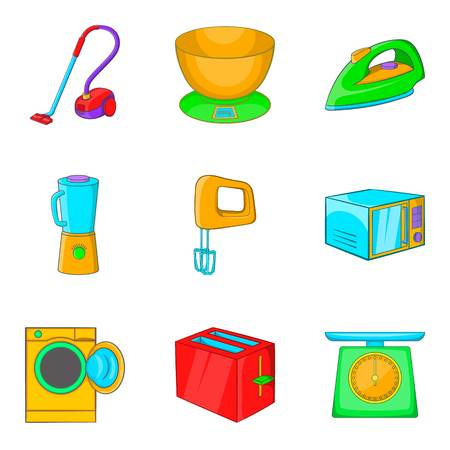 Upper chamber icons set. Cartoon set of upper chamber vector icons for web isolated on white background
