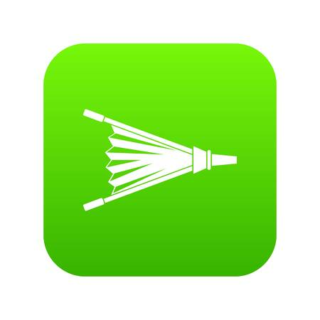 Fire bellows icon digital green for any design isolated on white vector illustration