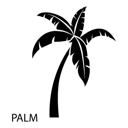 Illustration for Palm tree icon. Simple illustration of palm tree vector icon for web - Royalty Free Image