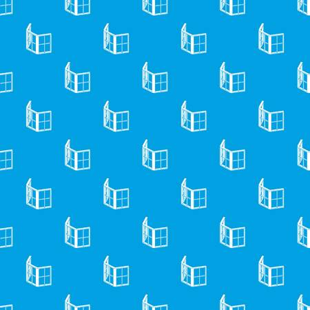 Facade window frame pattern vector seamless blue repeat for any use