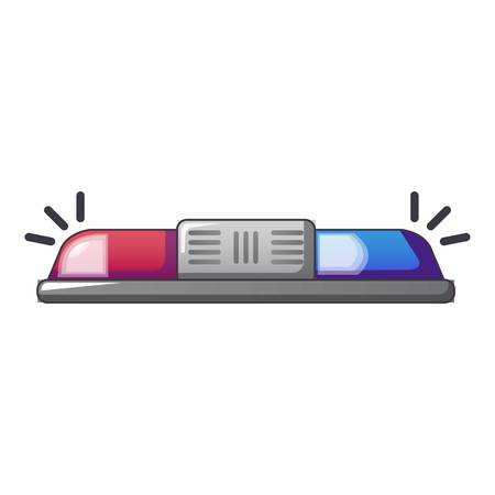Blue and red police flashing light icon.