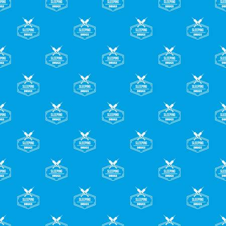Syringe drug pattern vector seamless blue repeat for any use