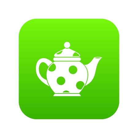 Kettle icon digital green for any design isolated on white vector illustration