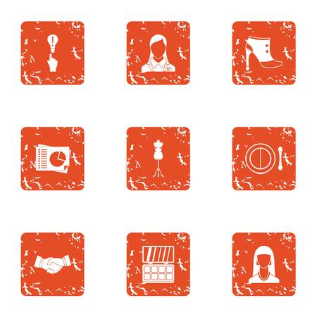 Good deed icons set. Grunge set of 9 good deed vector icons for web isolated on white background