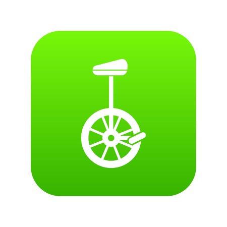 Unicycle icon digital green