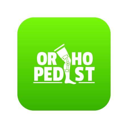 Orthopedic icon green vector